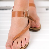 Heading To The Beach Sandals (Tan)