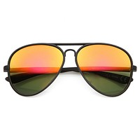 Large Retro Flash Mirror Lens Aviator Sunglasses 9830