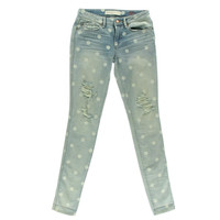 Marc by Marc Jacobs Womens Distressed Lilly Dot Wash Skinny Jeans