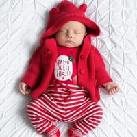 Mother Nest Baby Rompers Long Sleeves Pants Headband 3Pcs Set Soft Newborn Baby Clothing Fashion Baby Pajamas Infant Clothes