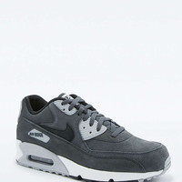 Nike Air Max 90 Black and Grey Leather Trainers - Urban Outfitters