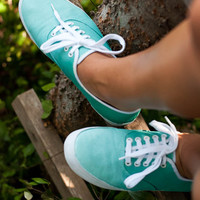 Turquoise Ombre Fade Sneakers