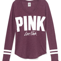 Long Sleeve Athletic Tee - PINK - Victoria's Secret