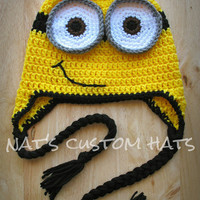 Newborn to Adult Crochet Despicable Me Minion Hat Made to Order