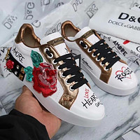 D&G Women Fashion Boots fashionable Casual leather Breathable Sneakers Running Shoes Sneak