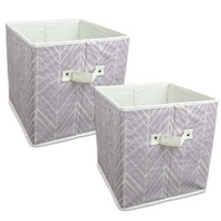 """DII Home Essentials Foldable Fabric Storage Containers for Nurseries, Offices, Closets, Home Décor, Cube Organizers & Everyday Use, 11 x 11 x 11"""", Herringbone Mauve - Set of 2: Amazon.ca: Home & Kitchen"""