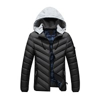 Winter Jacket Men Fashion New Arrival Casual Slim Cotton Thick Mens Coats Parkas With Hooded Warm Overcoats Clothing Male