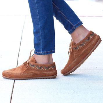 Minnetonka: Mosaic Embroidered Ankle Boot {Brown}