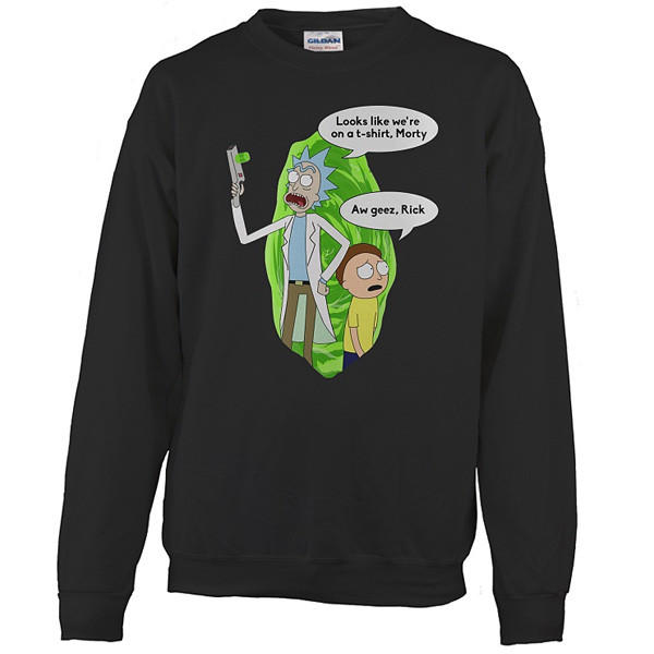Image of Rick And Morty - We're on a t shirt - Unisex Sweatshirt T Shirt - SSID2016