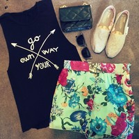 Mint Floral Shorts - American Threads