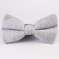 Spring Storm Blue Bow Tie
