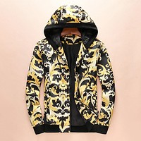 Versace Women Men Hoodie Long Sleeve Cardigan Jacket Coat I-A00FS-GJ