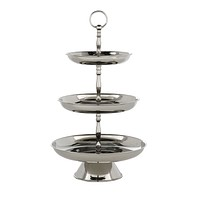 Silver Triple Cake Stand | Eichholtz Oriole