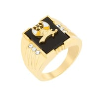 3-stone Shriners Men's Ring, size : 09