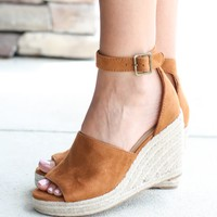 Chic Espadrille Platform Wedge - Tan