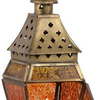 Hermite - Amber and Gold - Candle Holder