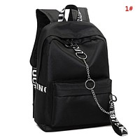 Off White Fashion New Letter Print Leisure Couple Leisure School Bag Backpack Bag  1#