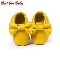 Newborn Tassels Baby Moccasin Babies Shoes Soft Bottom PU leather Prewalkers Boots First Walkers