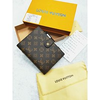 LV tide brand men and women models simple casual bookkeeping notebook