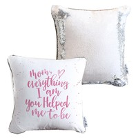 *Mother's Day* Mermaid Pillow w/ White & Silver Sequins [Limited Edition] COVER ONLY (Inserts Sold Separately)