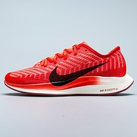 Bunchsun Nike Air Zoom Pegasus 36 Fashion New Hook Print Sports Running Leisure Mesh Shoes Red
