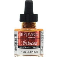 Dr. Ph. Martin's Iridescent Calligraphy Color, 1.0 oz, Copper (16R)