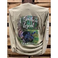 Backwoods Born & Raised Southern Legend Turkey Comfort Colors Long Sleeves Unisex T Shirt