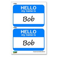Bob Hello My Name Is - Sheet of 2 Stickers