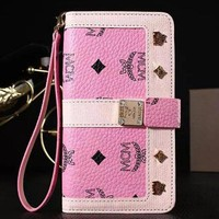 MCM Fashion iPhone Phone Cover Case For iphone 6 6s 6plus 6s-plus 7 7plus hard shell Leather Case-1