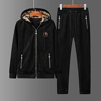 Versace Cardigan Jacket Hooded Coat Pants Trousers Two Pieces