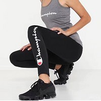 champion Fashion Print Exercise Fitness Gym Yoga Running Leggings Sweatpants
