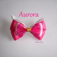 Aurora Inspired Disney Bow