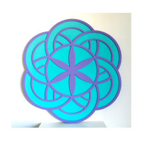 Seed of Life Crop Circle Wall Plaque
