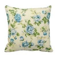 turquoise,teal,floral vintage,victorian,grunge throw pillows