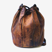 Brown genuine leather backpack school backpack shoulder bag leather women travel bag leather purse bag gift women vintage accessory bag