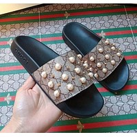 Gucci men and women Fashion Slippers-20