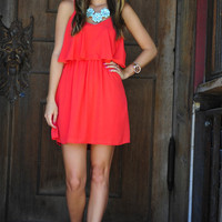 Never Gonna Give Up On You Dress: Coral | Hope's