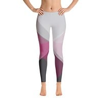 Make Your Point Pink/Grey Leggings