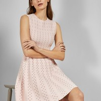Ted Baker VELLIA Knitted flippy skater dress