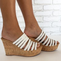 Stepping Stone Wedges in White