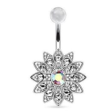 Flower Navel Body Piercing