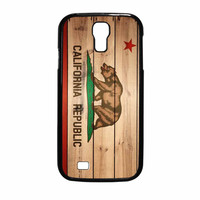California Republic State Flag Wood Design Samsung Galaxy S4 Case