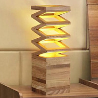 Wood Crafted Eye Catchy Table Desk Lamp