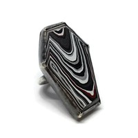 Fordite Coffin Ring