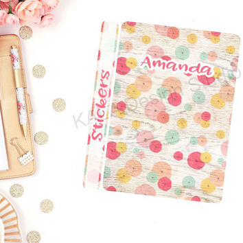 Customized Colorful Spring Themed Sticker Binder Cover! Perfect For Erin Condren Life Planner, Happy Planner and Calendar Stickers!