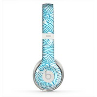 The Abstract Blue & White Waves Skin for the Beats by Dre Solo 2 Headphones