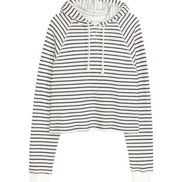 Cropped hooded top - from H&M