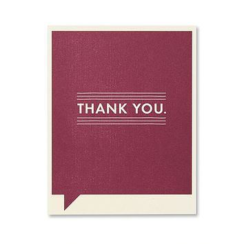 Thank You Greeting Card - Thank You.