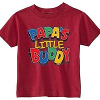 Lil Shirts Little Boys Papa's Little Buddy Youth & Toddler Graphic Tee