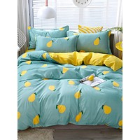 Pear Print Bedding Set Without Filler